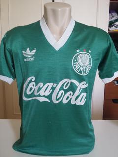 Rara Camisa Palmeiras 1989 Tecido Brilhante Muito Bom Estado