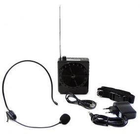 Rádio Megaphone Speaker Multifunções K150 Com Rádio Fm Mp3