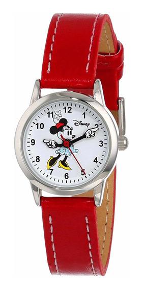Disney Minnie Mimi Reloj De Piel Con Caja Regalo