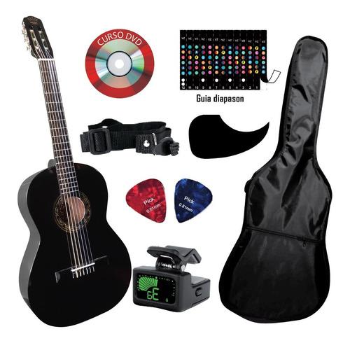 Imagen 1 de 6 de Guitarra Clasica C/ Funda Afinador Y Accesorios De Regalo