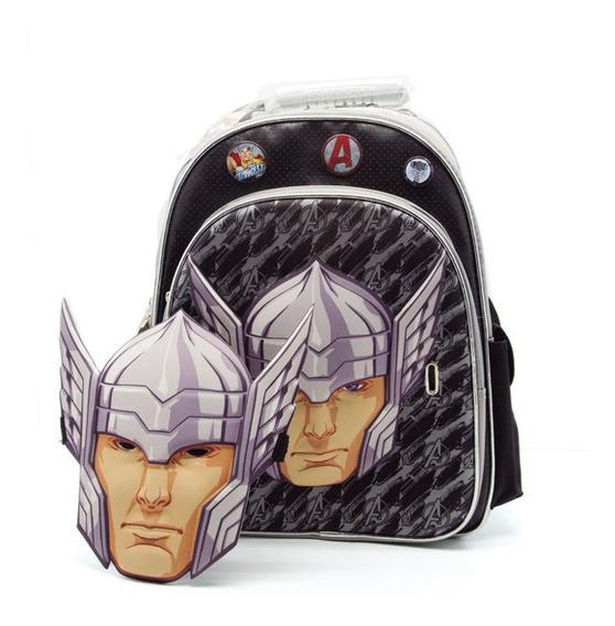 Cresko Mochila Avengers 16 Pulgadas Con Mascara Escolar