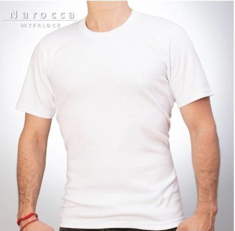Camiseta Interlock Naroca Manga Corta Escote R/v T38 Al 50