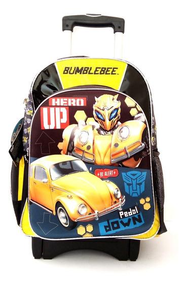 Mochila Bumblebee 3d Para Primaria Con Carro Adaptado