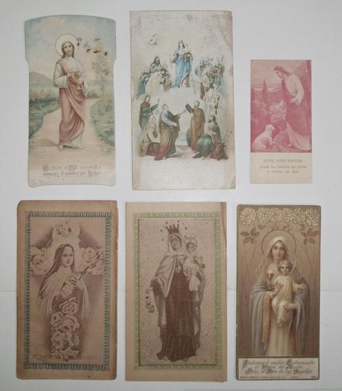 Estampas Religiosas Seis Entre 1886 Y 1931 Antiguas