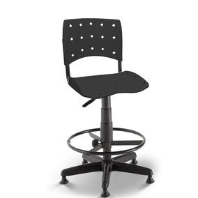 Cadeira Caixa Secretária Balcão Portaria Ergoplax Preto