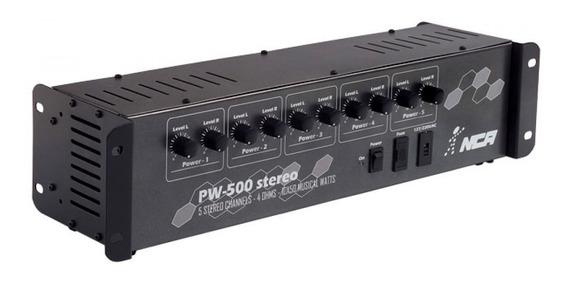 Amplificador Potência 5 Canais Pro Som Ambiente Pw500 Nca