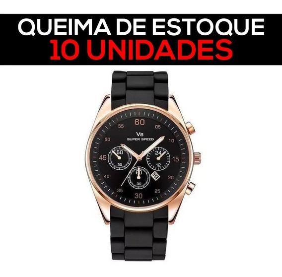 10 Relógios Masculino V8 Com Nf - Promoção Queima De Estoque