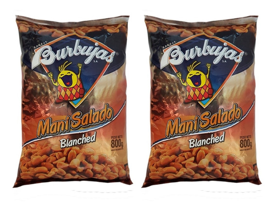 Snack Mani Salado Bolson 800gr Ideal Fiestas La Golosineria