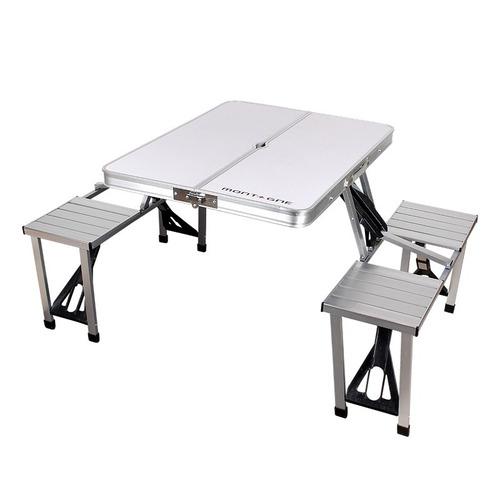 Mesa Plegable De Aluminio Para 4 Personas