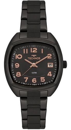 Relógio Technos Feminino Dress Preto 2115mrk/4p