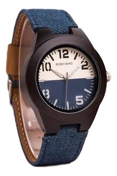 Relógio Bobo Bird Jeans Madeira Natural - R29 - Lindo!