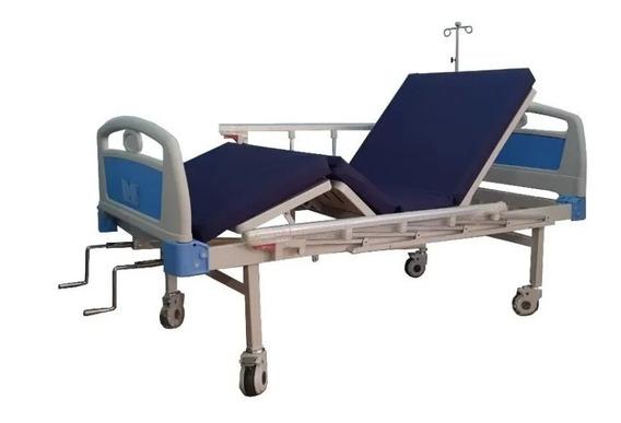 Cama Hospitalaria 2 Manivelas Con Colchón Y Envío Gratis