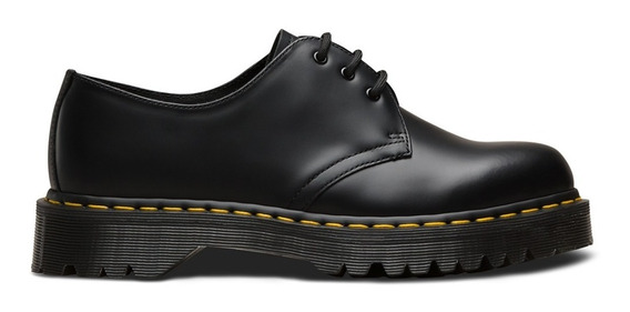 Zapato Mujer Dr Martens 1461 Bex Black Smooth Plataforma