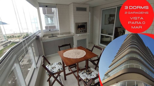 Apartamento 3 Dormitórios, 2 Vagas, Vista Para O Mar - Prédio Frente Para A Orla Do Canto Do Forte - Lup90