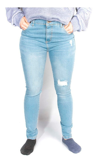 Jeans Aeropostale Skynny Low Rotura Gastado Denim Mujer Aero