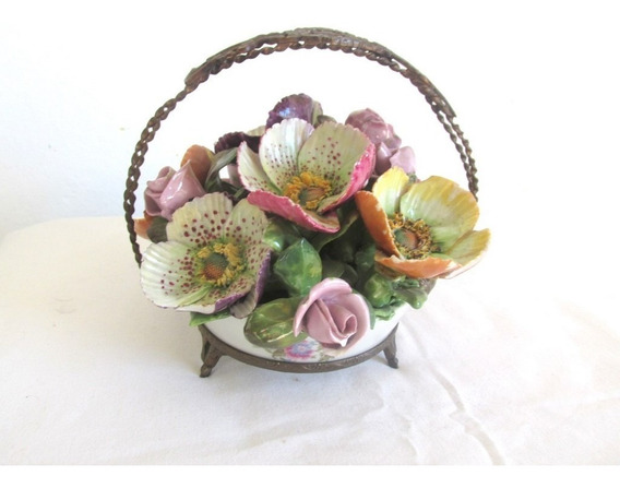 Adorno Centro De Mesa Deco Canasta Floral Petit Paris