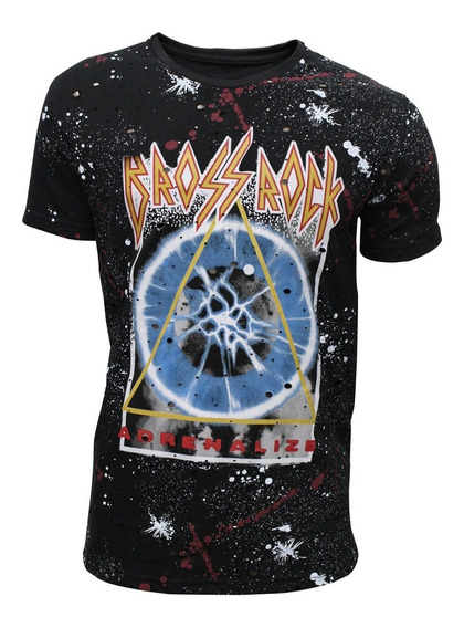 Remera M/c C/r Batik Est Bross Rock Triangulo