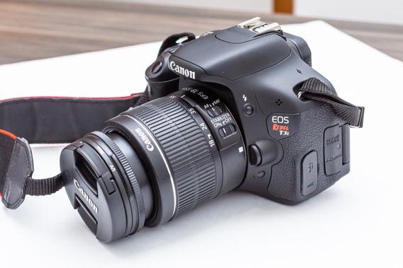 Câmera Canon T3i (392 Clics) + Lente 18 55mm