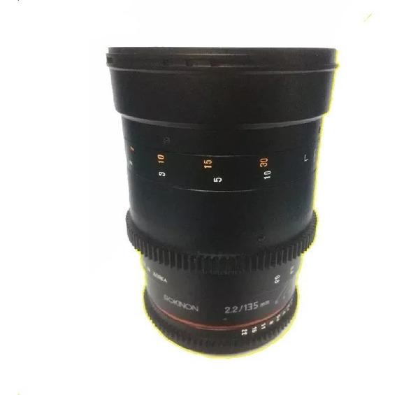 Lente Rokinon Cine Ds 135mm T2.2 Mft Oem - Para Canon