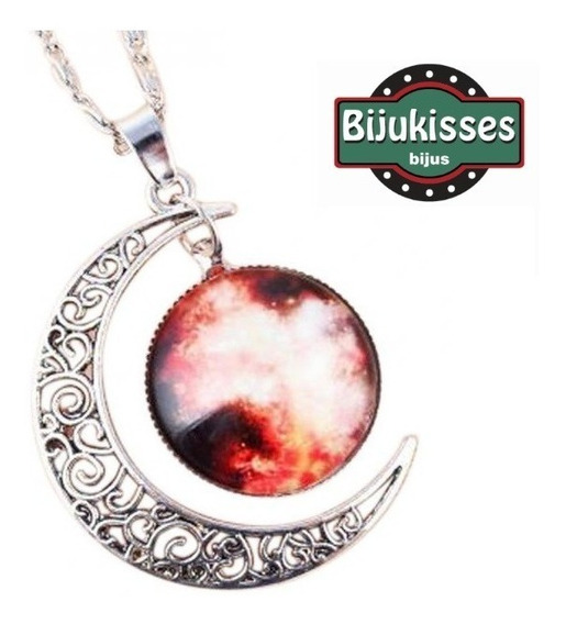 Corrente Galaxy Art Red Moon - Lua Vermelha