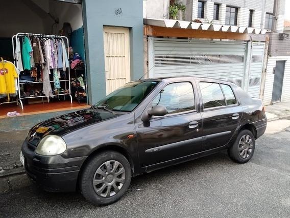 Clio Sedan 2001 Preto 2000 Reais