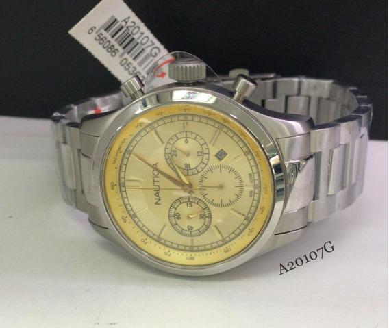 Relógio Nautica Cronografo A20107g Na Altarelojoaria