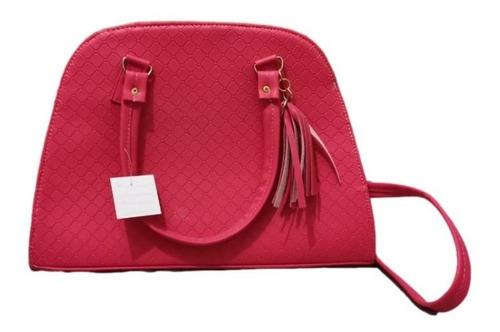 Imagen 1 de 2 de Bolso Karina Color Fiusha Grande Premium