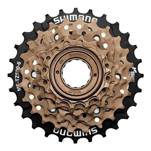 Imagen 1 de 1 de Piñon Para Bicicleta - Shimano - 6 Coronas A Rosca