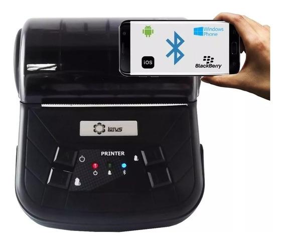 Mini Impressora Portátil Lt-667 80mm Bluetooth Android Ios