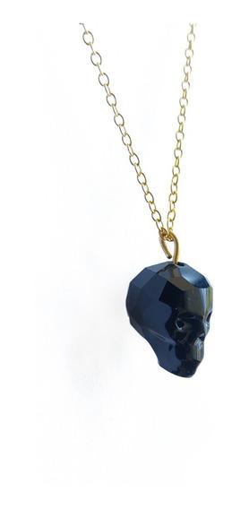 Collar Swarovski Skull Jet