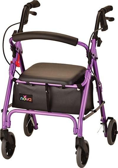 Nova Productos Médicos Getgo Pequeño Andador Walker, Púrpura