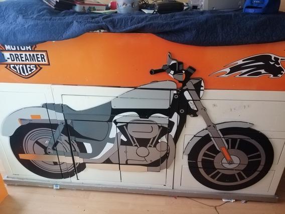 Base Para Cama Matrimonial Diseño Motocicleta