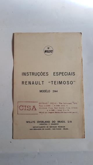Manual Do Proprietario Renault Willys Teimoso