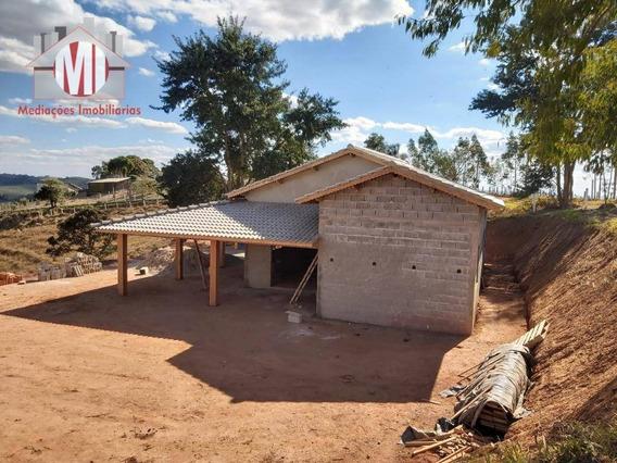 Chácara Nova Com Escritura, 03 Dormitórios, Entregue Pronta, À Venda, 4500 M² Por R$ 300.000 - Pedra Bela/sp - Ch0495