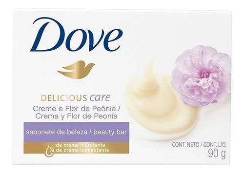 Imagem 1 de 1 de Sabonete Barra Dove Delicious Care 90 Gr Creme  (kit/06 U
