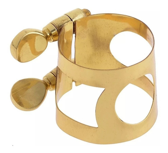 Abraçadeira Metal P/ Sax Alto Dourada