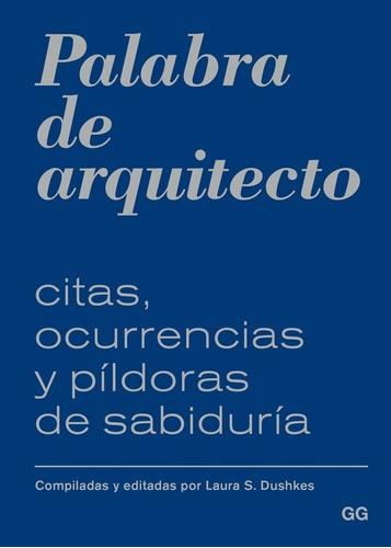 Libro Palabra De Arquitecto