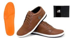 Sapato Tenis Sapatênes Uk Colection Em Couro + Brinde Uk100