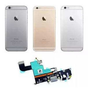 Carcaça Botões + Dock Conector De Carga iPhone 6 4.7