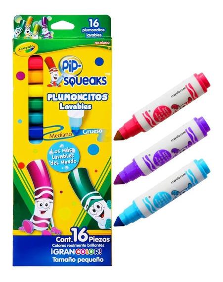 Crayola Pip-squeaks Plumoncitos Lavables 16 Piezas No Tóxico