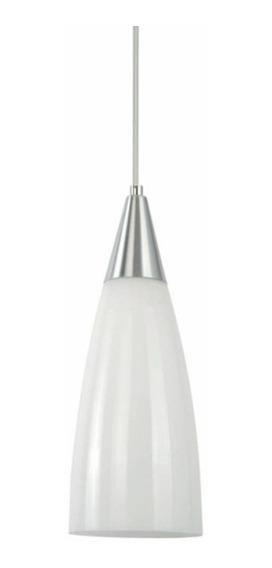 Pendente Luminária Prestige Vidro Branco Alumínio G-light