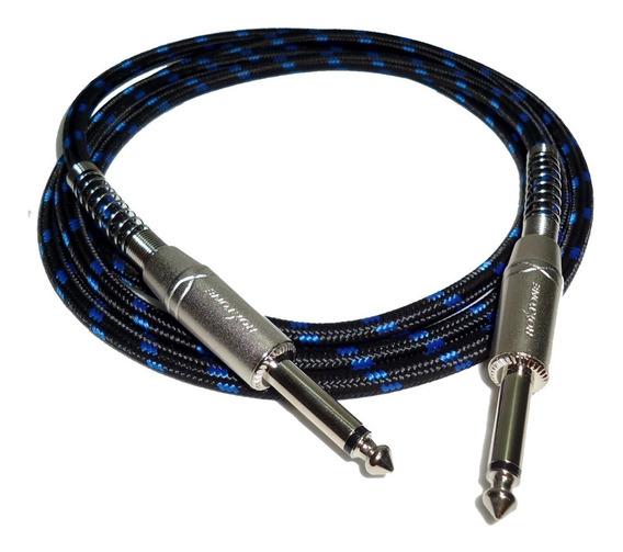 Cable Linea Guitarra Plug X 9 Mts Textil Profesional Hamc