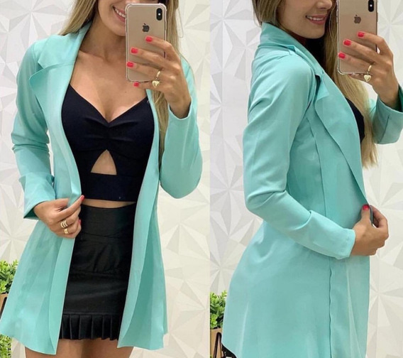 Maxi Blazer Casaquinho Sobretudo Kimono Neoprene