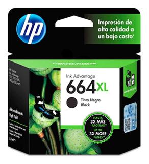 Cartucho Hp 664xl Negro Para 2135 3635 2675 Original