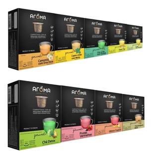 120 Cápsulas Para Nespresso - Chá - Cápsula Aroma.
