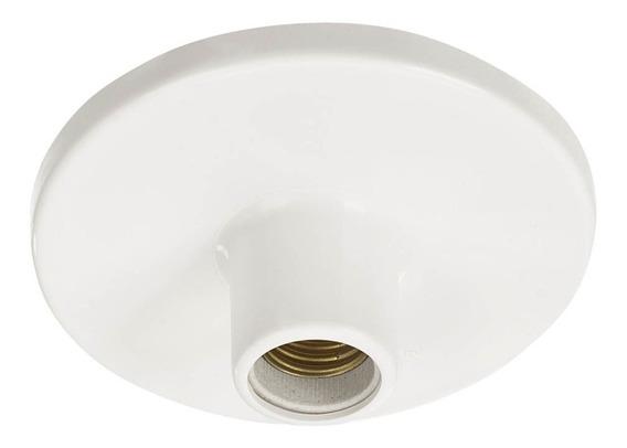 10 Unidades De Plafon Branco Soquete De Porcelana Bocal E27