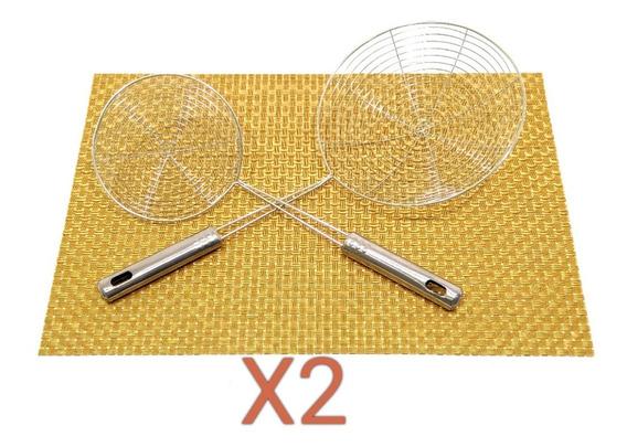 Colador Con Mango De Acero Inoxidable Set X 2 Pacho