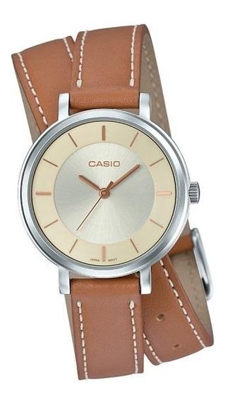 Relógio Casio Feminino Analógico Collection Ltp-e143dbl-5adr