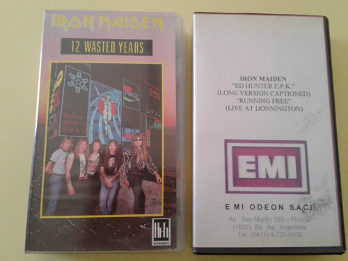 2 Cassettes Vhs Iron Maiden Wasted Years
