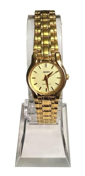 Relógio Orient Mini Feminino Dourado - Original Caixa Nf